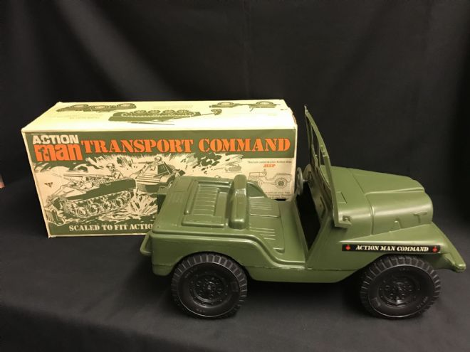 VINTAGE ACTION MAN - TRANSPORT COMMAND - JEEP - BOXED